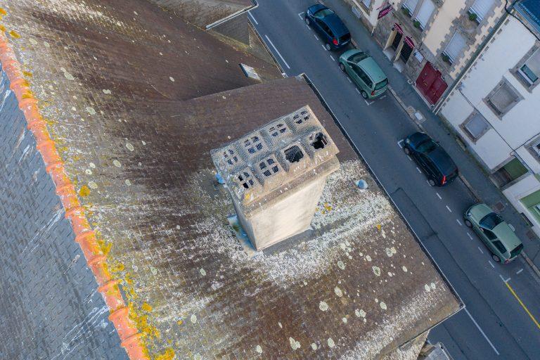 inspection toiture et cheminée par drone