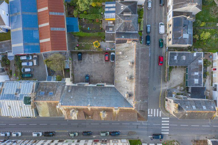 inspection toiture immeuble par drone