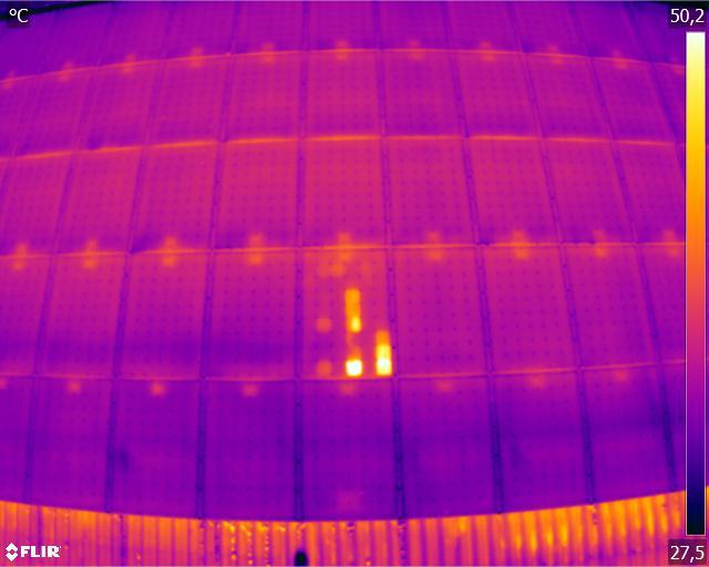 Inspection de panneaux photovoltaïques drone