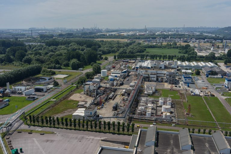 inspection site industriel drone