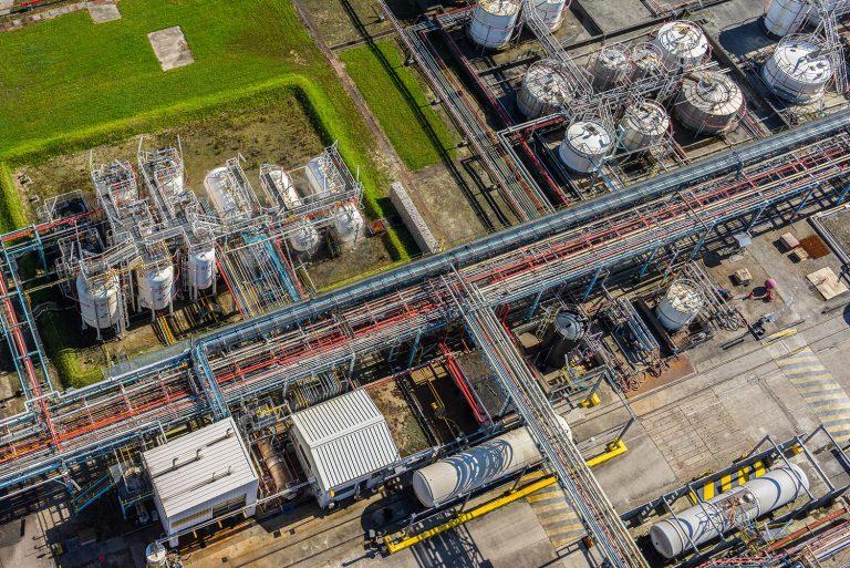 inspection site industriel par drone