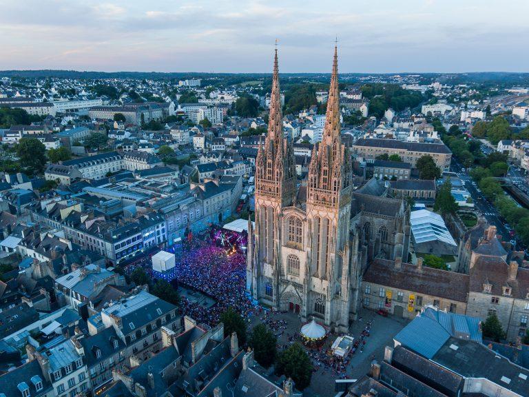 photo par drone ville