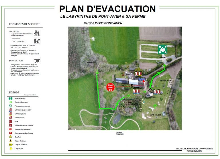 plan evacuation topographie